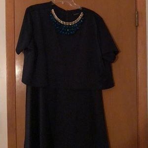WORN ONCE! Asos Club L Navy Dress